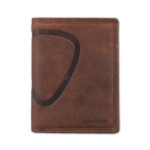 Strellson Pánská kožená peněženka Baker Street 4010000224 hnědá