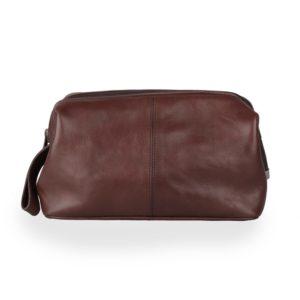 Sněžka Náchod Kožená kosmetická taška 4236-40 hnědá