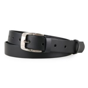 Penny Belts Dámský úzký kožený opasek 172-63 černý - 95