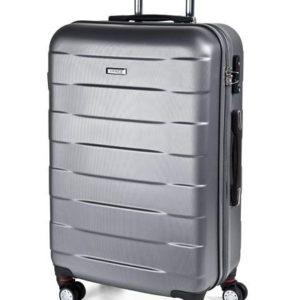 March Střední cestovní kufr Bumper M 71 l - stříbrná