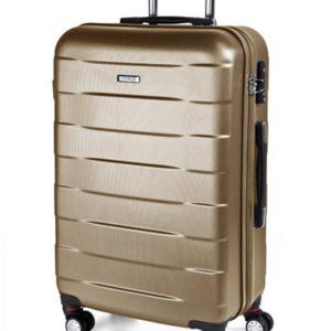 March Střední cestovní kufr Bumper M 71 l - zlatá