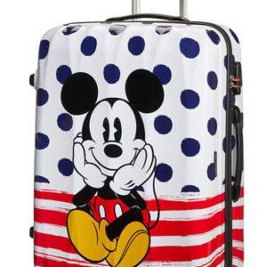 American Tourister Cestovní kufr Disney Legends Spinner 88 l - Mickey Blue Dots