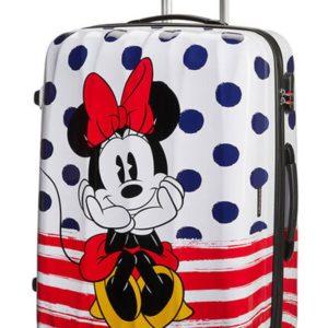 American Tourister Cestovní kufr Disney Legends Spinner 88 l - Minnie Blue Dots